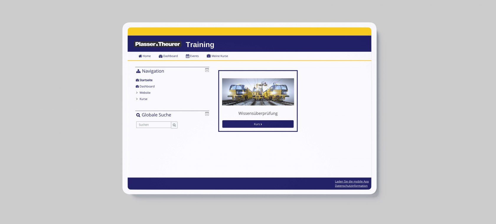 eLearning LMS Plasser & Theurer